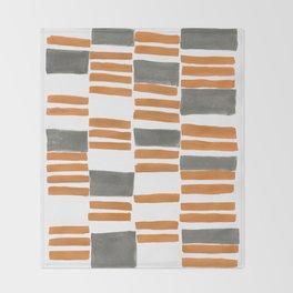 Euclid Watercolor in Orange Throw Blanket