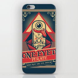 One-eyed Pirate iPhone Skin