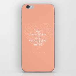 Secret Of Love iPhone Skin