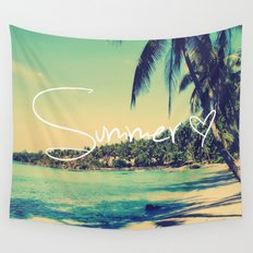 Summer Love Vintage Beach Wall Tapestry