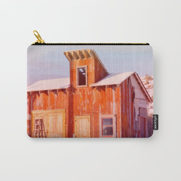 Rural Montana Country Rustic Old Wood ranch Carry-All Pouch
