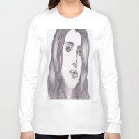 celebrity Long Sleeve T-shirts featuring Celebrity Portrait by N. Rogers Fine Art