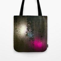 saga Tote Bags featuring Condensation 08 - Saga | Charcoal by PRE Media