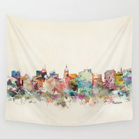 wisconsin Wall Tapestries featuring madison wisconsin by bri.buckley