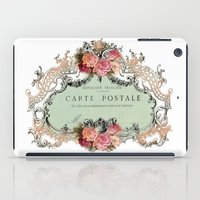shabby chic iPad Cases featuring Shabby Chic Carte Postale by Nika in Wonderland