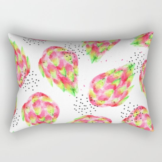 Dragon Fruit #society6 #decor #pattern Rectangular Pillow