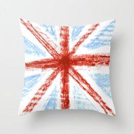 Flag of UK 11- London,united kingdom,england,english,british,great britain,Glasgow,scotland,wales Throw Pillow