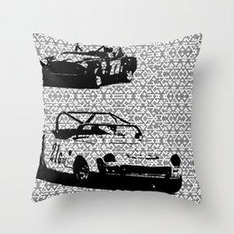 Vintage Racing #1 Throw Pillow