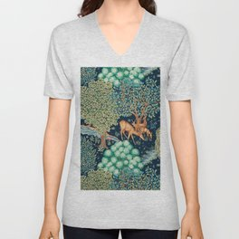 "William Morris ""The Brook"" Unisex V-Neck"