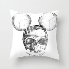 Mickey Skull Throw Pillow