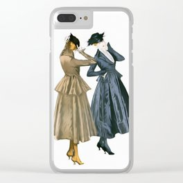 Vintage Dresses from 1915 Clear iPhone Case