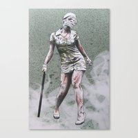 silent hill Canvas Prints featuring SILENT HILL ZOMBIE NURSE by PRINT ROYALE