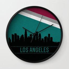 Los Angeles Skyline Wall Clock