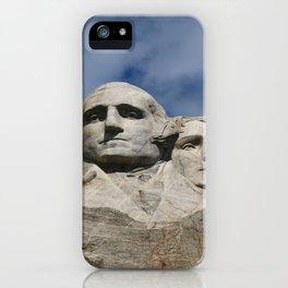 George Washington And Thomas Jefferson  - Mount Rushmore iPhone Case