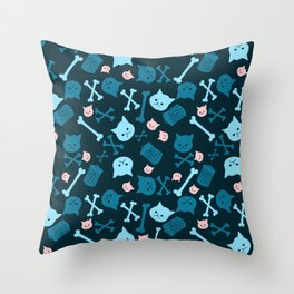Trash Cat Pattern Throw Pillow