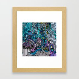 THE AFTERPARTY Framed Art Print