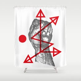 DKMU - Resistance against consensual reality Shower Curtain