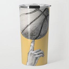 Basketball spin orange Travel Mug
