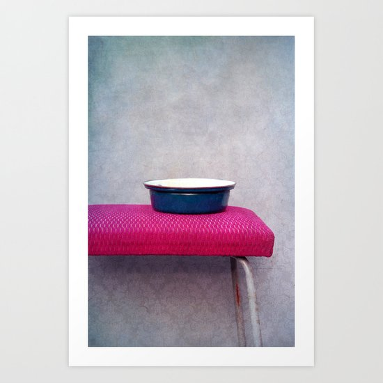 Pot and stool Art Print