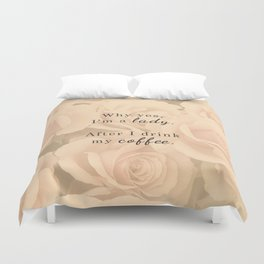 Lady After Coffee Duvet Cover