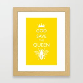 God Save the Queen (Bee) Framed Art Print