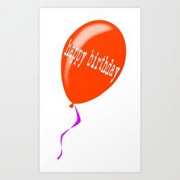 Birthday Balloon Art Print