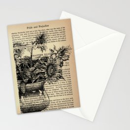 Pride & Prejudice, Chapter XLIII: Sunflowers Stationery Cards