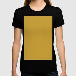 Satin sheen gold T-shirt