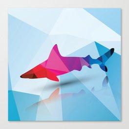 Geometric shark Canvas Print