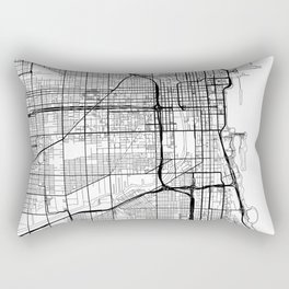 Chicago Map White Rectangular Pillow