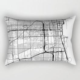 Chicago Map White Rectangular Pillow