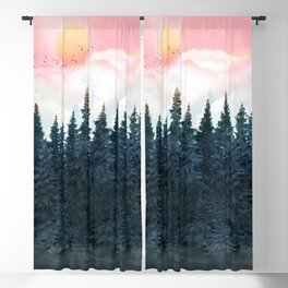 Forest Under the Sunset Blackout Curtain