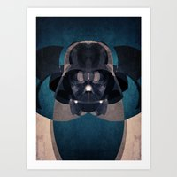 darth vader Art Prints featuring Darth Vader by lazylaves