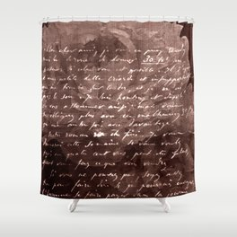 Letter and Flower II, brown edition Shower Curtain