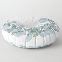 Winter Wreath Floor Pillow