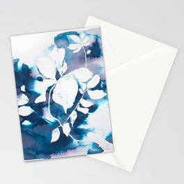 Indigo Blue Botanical Stationery Cards