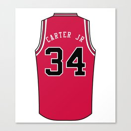 Wendell Carter Jr Jersey Canvas Print