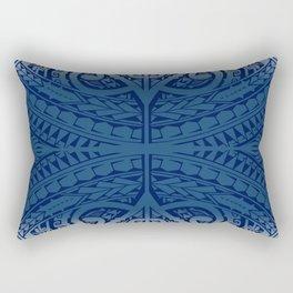 Monochromatic Polynesian Tribal design Rectangular Pillow