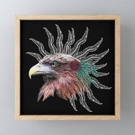 ethno golden eagle, indians Framed Mini Art Print