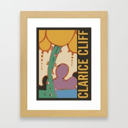 Art Deco Clarice Cliff Artwork Poster Print Framed Art Print