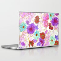 oriental Laptop & iPad Skins featuring Oriental blossom by Federico Faggion
