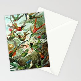 Ruby-throated Hummingbirds & Hummingbirds of the World Rainforest Garden Still Life painting Stationery Cards