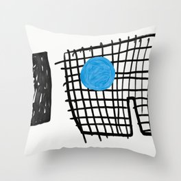 a graphic montage Throw Pillow