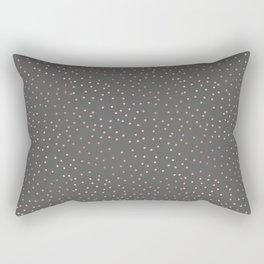 Tiny Rose Gold Dots Rectangular Pillow