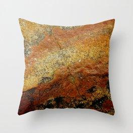 Beach Stone Abstract Throw Pillow