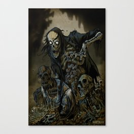 BORN OF MUD Canvas Print