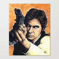 han solo Canvas Prints featuring HAN SOLO by CHRIS MASON