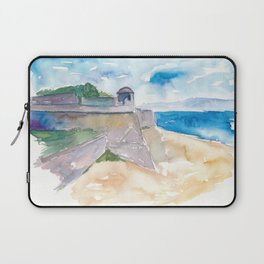 Ajaccio Corsica France - Beach and Fortress Laptop Sleeve