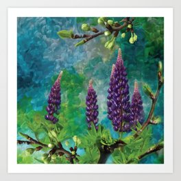 For The Love Of Lupines by annmariescreations Art Print