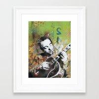 django Framed Art Prints featuring Django by MATEO